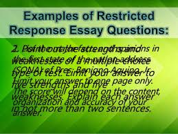types of essay items 8 1