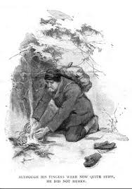 to build a fire an illustration for the story to build a fire by the author jack london