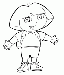 Small Picture Kids n funcom 84 coloring pages of Dora the Explorer
