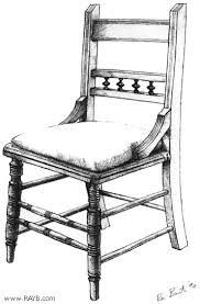 chair drawing. positive space chair drawing