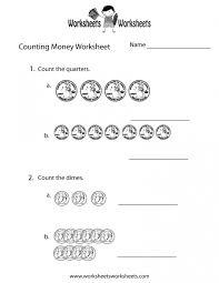 Kids : Easy Counting Money Worksheet Free Printable Educational ...