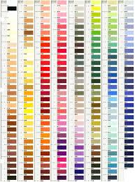 Iris Floss Color Chart 42 Clean Mettler Thread Chart