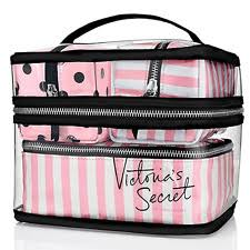 nwt victoria s secret train case cosmetic makeup bags 4 piece pink travel set