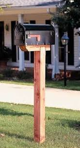 mailbox post design ideas. Learn How To Install A Mailbox Post Without Concrete Or Digging Hole But  Still\u2026 Design Ideas I