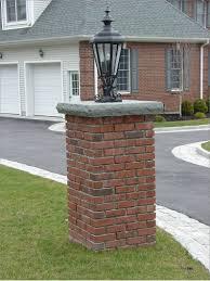 Brick Entrance Designs Driveway Wall And Pillar Ideas Brick Columns Driveway Brick
