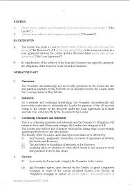 Letter Of Guarantee Template Loan Guaranty Agreement Sba