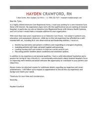 Amazing Cover Letter Creator Pre Written Cover Letter Healthcare Intensive Care Nurse
