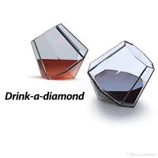 2018 crystal red wine glass cup diamond cut sober tilted whiskey glasses spirit drinking cocktail beer whisky holder tumbler from yichuangone