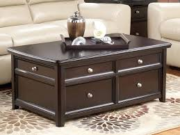 catchy espresso coffee table and with drawers tables furniture of america architectural inspired dark