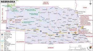 nebraska map map of nebraska ne map