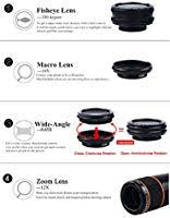 Apexel 4 in 1 Camera Lens <b>12x Telephoto Lens</b>/Fisheye: Amazon ...