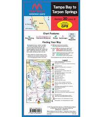 Tampa Bay Marine Chart Maptech Tampa Bay To Tarpon Springs Waterproof Chart
