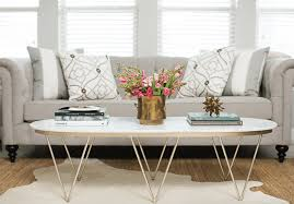 Close up of an elegantly styled coffee table