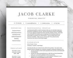 Resume 2 Pages Resume template Etsy 85