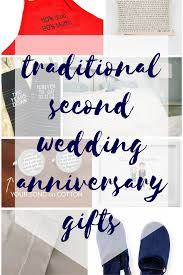 traditional second wedding anniversary gifts