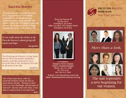 dress for success ri brochure kelsie s blog dress for success ri brochure inside outside