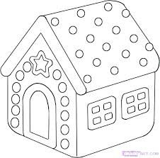 Gingerbread House Coloring Pages Printable Gingerbread Houses