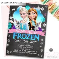 Frozen Birthday Invitations Frozen Birthday Invitation Instant Download Do It Yourself