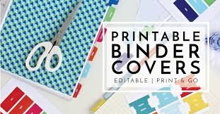 Free Editable Binder Covers And Spines New To The Organization Toolbox Printable Binder Covers And