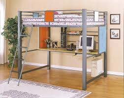 metal bunk bed with desk. Image Of: Ideas Metal Loft Bed With Desk Bunk