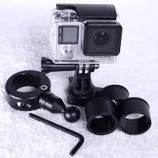 Biker GoPro Gripper Head Adapter \u0026 Handlebar Universal Mount System-Black (Fits Bars 7 Camera Motorcycle Mount-Best Strongest \u2013 Law Abiding