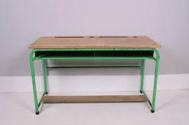 kids vintage green double desk 1