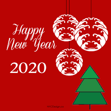 New Year Card 2020 Free Printable Red Card Nycdesign Co