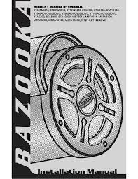 bazooka bt1014 specifications manualzz com bazooka wiring harness at bazooka bta100 wiring harness diagram