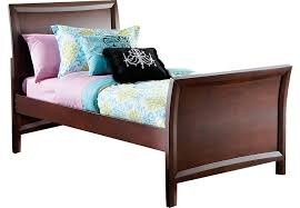 Ivy League Cherry 3 Pc Twin Sleigh Bed Beds Dark Wood