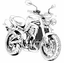 Motorcycle drawing