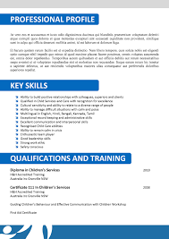 Resume Sample Child Care Resume