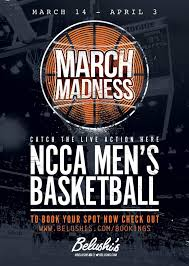 March Madness Flyer Watch Ncaa March Madness 2017 Belushis Bars