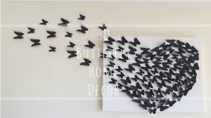 on diy 3d wall art with diy 3d butterfly wall decor youtube