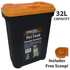 Image is loading 32L-Large-Pet-Food-Container-Dog-Cat-Animal- 32L Large Pet Food Container Dog Cat Animal Storage Bin 16KG Dry