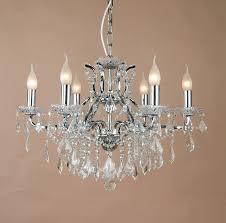 shallow six arm chandelier bronze image 4