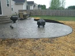 pouring concrete patio g tended g