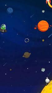 Iphone 8 Plus Cute Space Cartoon Wallpaper