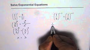 exponential equations involving fractions