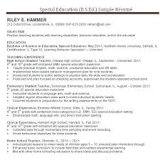Objective For Education Resume High School Math Teacher Resume Objective Sample Spacesheep Co