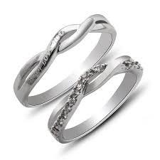 infinity band. infinity crisscross diamond accent engravable wedding band