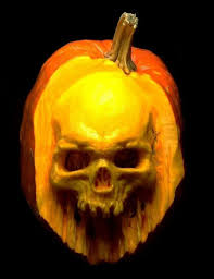 realistic pumpkin drawing. realistic skull pumpkin carving drawing