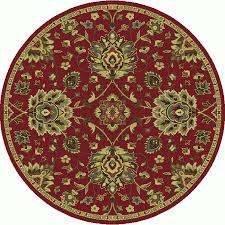 oriental weavers of america garrison red round indoor oriental area rug common 7 x