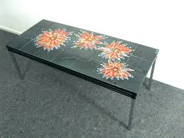 vintage tile top coffee table mosaic large size of tiled e kitchen square