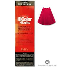 Loreal Hicolor Colour Chart Loreal Excellence Hicolor Magenta Hilights For Dark Hair Only