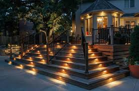 stair step lighting. Solar Stair Step Lights @15 Deck Lighting Ideas For Every Season