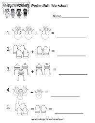 Free Printable Winter Math Worksheet For Kindergarten Koogra ...