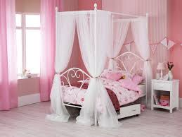 Princess Pink 4 Poster Canopy Mosquito Net Cal King Full Queen Twin-XL Bed  Size