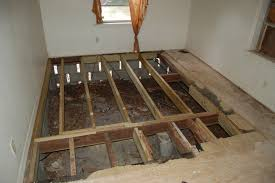 bathroom subfloor replacement. AFTER - Damaged Subfloor Replaced. Now, A Layer Of Sturdy Plywood And New Carpeting Bathroom Replacement