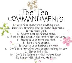 Christian Quotes For Kids Best Of The Ten Commandments For Kids Religious Wall Quotes