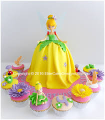 Amazing Tinkerbell Theme Cupcakes For A Girls Birthday By